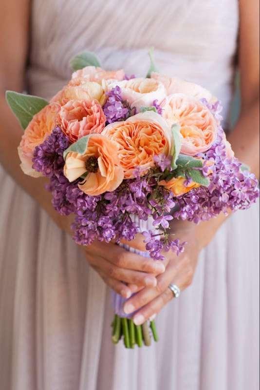 фиолетовый. сиреневый, оранжевый, букет - фото 10438392 Невеста01