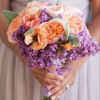 фиолетовый. сиреневый, оранжевый, букет