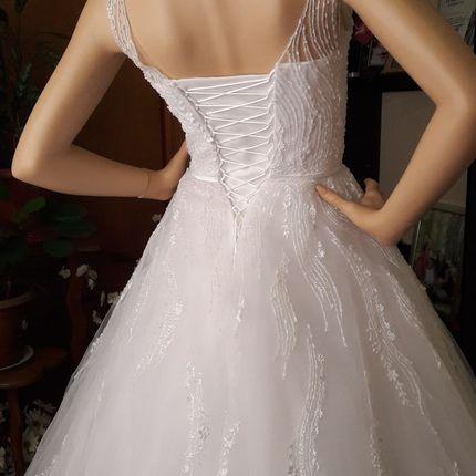 Расшитое нежным стеклярусом платье