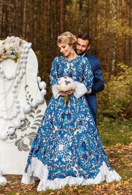 Свадебные платье в русском стиле