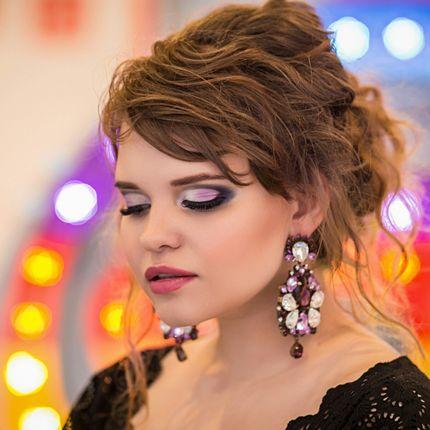 Вечерний макияж и причёска для гостей