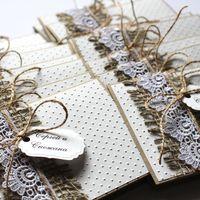 Свадебные приглашения в стиле Рустик