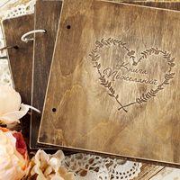 Книга пожеланий в деревянной обложке