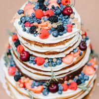 Голый торт с ягодами, 1 кг