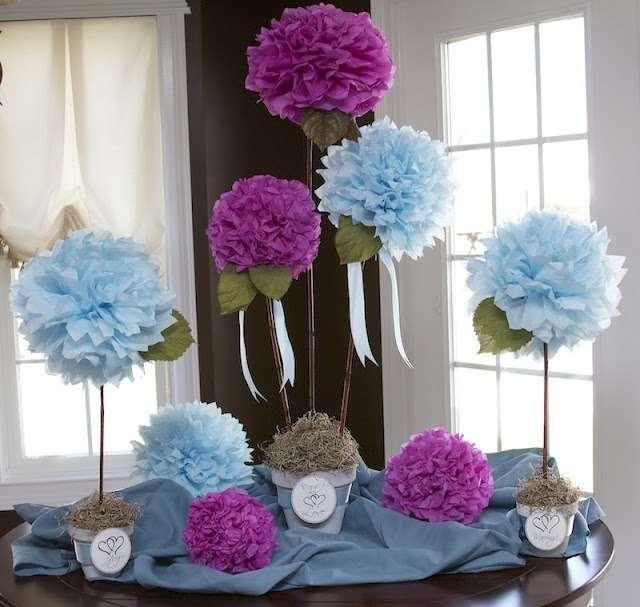 Фото 4833073 в коллекции Оформление помпонами - Декорация - организация и оформление свадеб