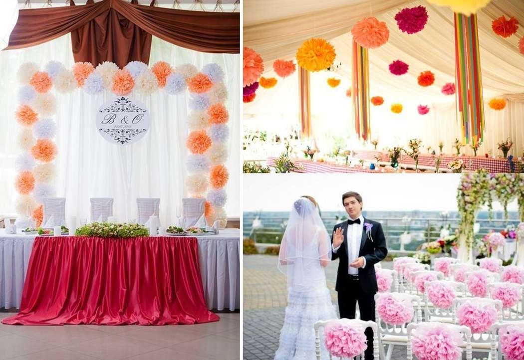 Бумажные украшение свадеб своими руками