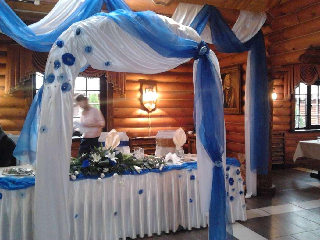 """Рабочий момент. Оформление зала в ресторане """"Адмирал"""". Свадьба в сине-белых тонах. По заказу агентства """"Suv&Stars"""" - фото 4879687 Мастерская декора Роенко Натальи"""