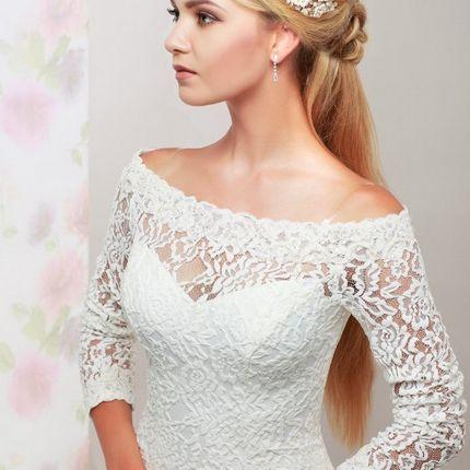 Кружевное платье с рукавами Розабель