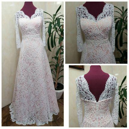 Кружевное свадебное платье для полных Евгения