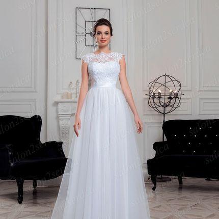 Нежное свадебное платье с открытой спиной Елизавета (SV071)