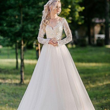 Блестящее закрытое платье Мия