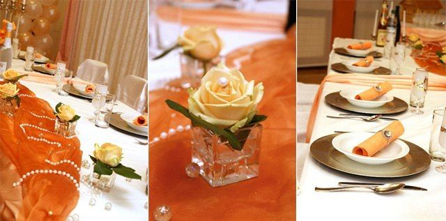 Как украсить стол гостей на свадьбу