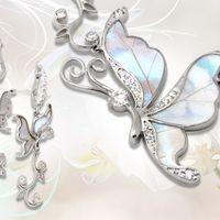 Настоящие крылья индонезийских бабочек в серебре 925 пробы! Серьги, броши, подвески, брелки для телефона и ключей.