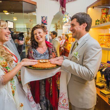 Свадебный обряд в русском стиле