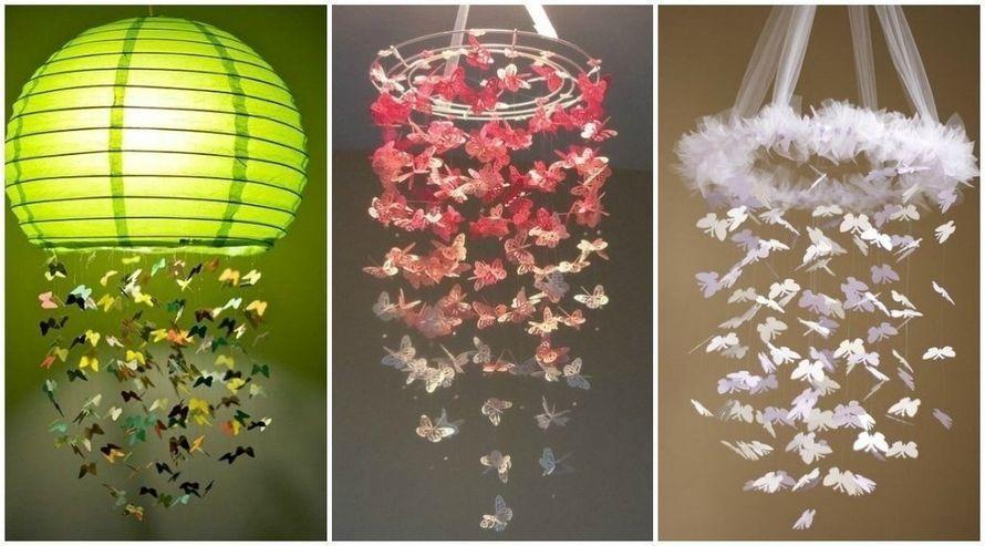 Бабочки на нитке для декора