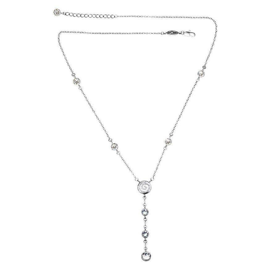 Колье Parisienne rhodium crystal Покрытие - родий Вставки: кристаллы Swarovski   - фото 5089131 Ювелирный салон Mademoiselle Jolie Paris