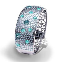Браслет Parisienne grand rhodium aquamarine Покрытие - родий Вставки: кристаллы Swarovski