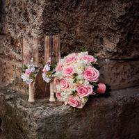 Свадьба в фисташковом и розовом. Бокалы молодоженов