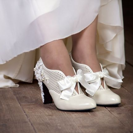 Свадебные ботильоны айвори