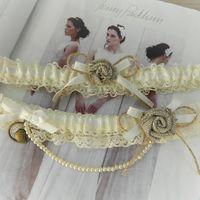 Свадебные подвязки в стиле рустик.