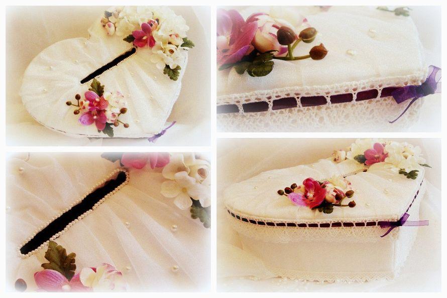 Коробочка для денег. Подвязка. Ручная работа. - фото 5134111 Vesta Deluxe - оформление свадеб