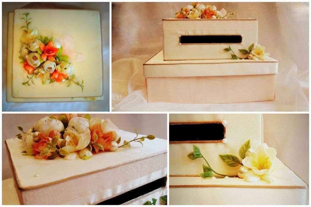 Коробочка для денег. Подвязка. Ручная работа. - фото 5134117 Vesta Deluxe - оформление свадеб