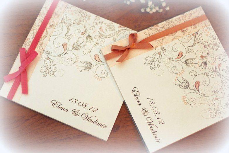 Пригласительные ручной работы - фото 5134127 Vesta Deluxe - оформление свадеб