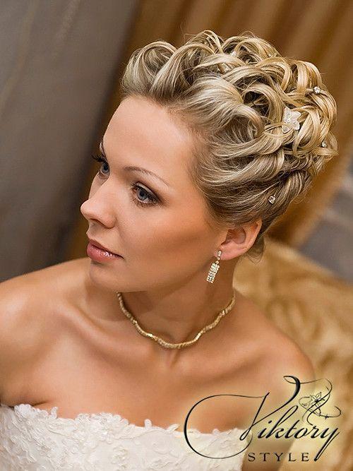 Вечерние свадебные прически короткие волосы