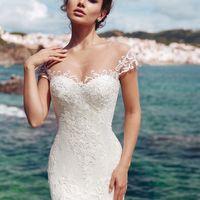 Бруна (MR)Шикарное свадебное платье силуэта русалка с открытым верхом-маечкой и длинным шлейфом