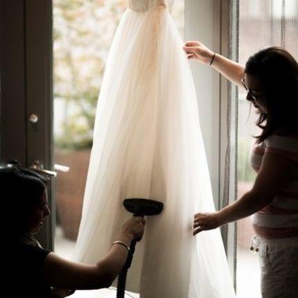 Отпаривание платья