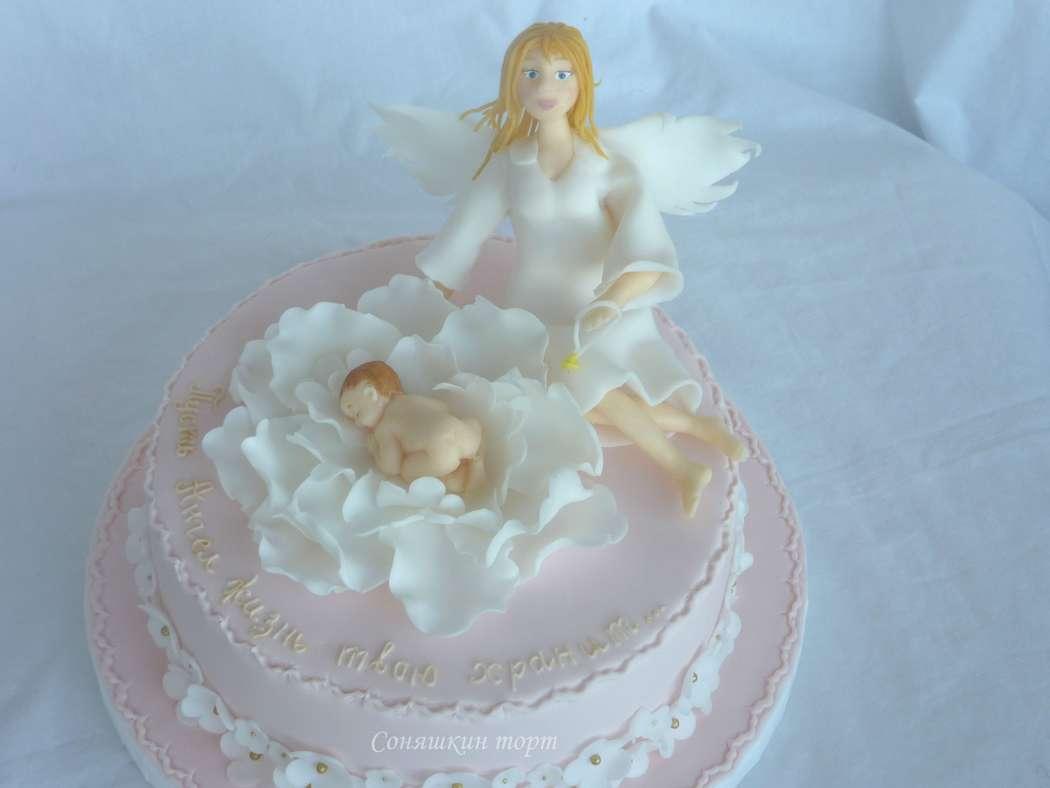 торт на крестины с ангелами фото родители