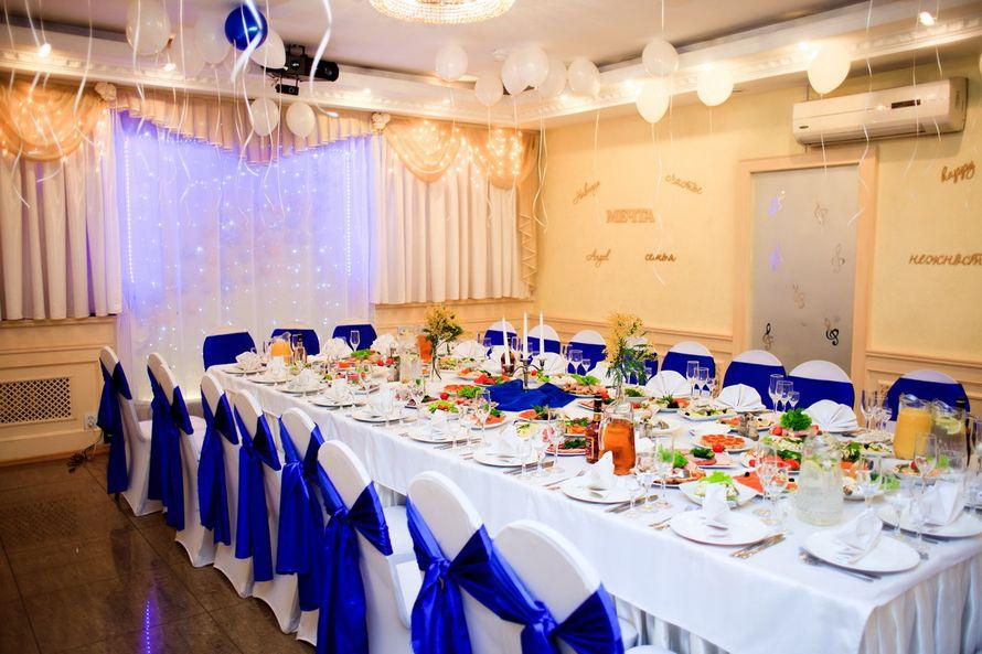 """Бело-синее оформление  - фото 9797248 Банкетный зал """"Корсаков"""""""