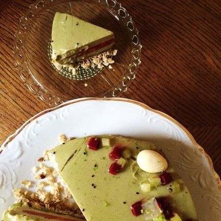 """Веганский торт """"Зелёный остров"""""""