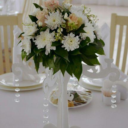Оформление гостевых столов декоративными цветами, цена за 1 шт