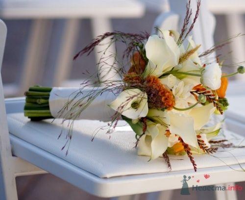 Осенний букет невесты с каллами