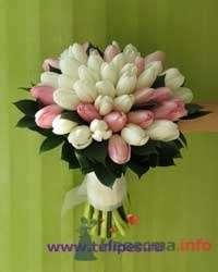 Букет невесты из белых и розовых тюльпанов - фото 1841 leshechka