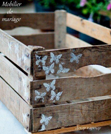 Ящик деревянный 30х50 высота 20 см - фото 5985351 Аренда реквизита Mobilier_de_mariage