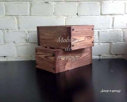 размер коробочки 15х20 высота 10см - фото 5985353 Аренда реквизита Mobilier_de_mariage