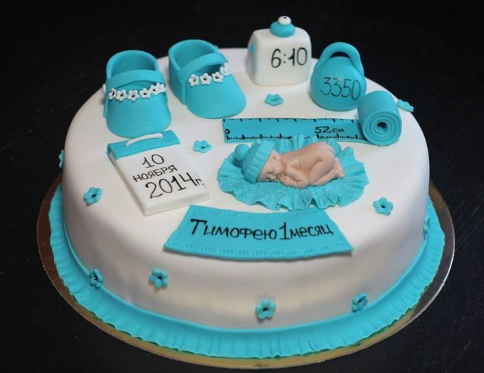 Торт на месяц ребенку