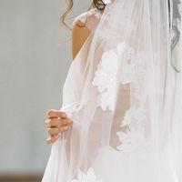 Свадебное платье Симфония с фатой