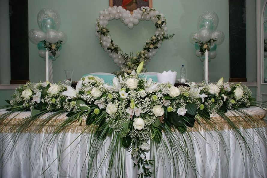 Свадебные украшение на стол фото