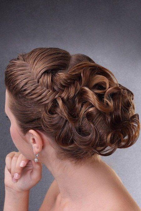 Вечерние прически с косами и плетением
