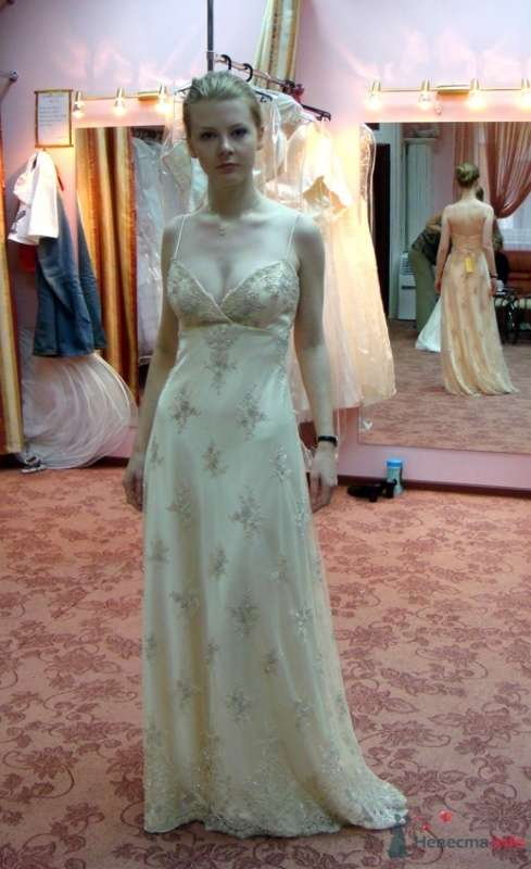 Платье №4, крем, фасад - фото 26568 malysh_eva