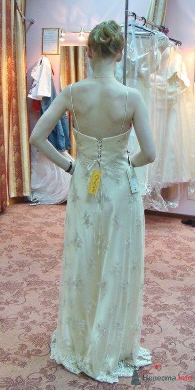 Платье №4, крем, сзади