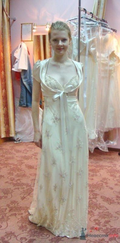 Платье №4, крем, с болеро - фото 26571 malysh_eva