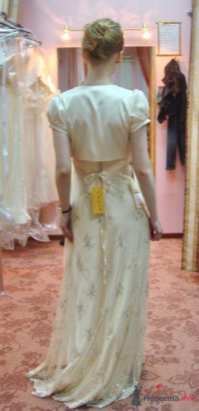 Платье №4, крем, с болеро сзади - фото 26572 malysh_eva