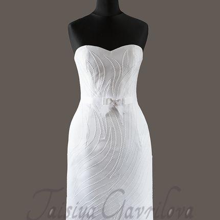 Свадебное платье прямое короткое