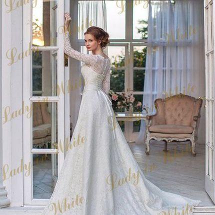 Кружевное платье в цвете айвори
