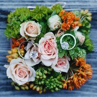 цветочная коробочка-подушечка для колец на свадебную церемонию