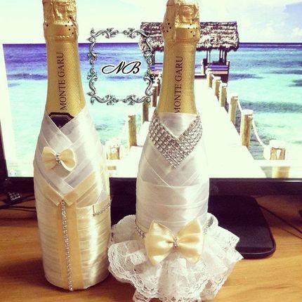 Украшение шампанского, 2 бутылки